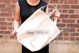 Learn To Read Art Tote Bag / Printed Matter Tote / By Lawrence Weiner
