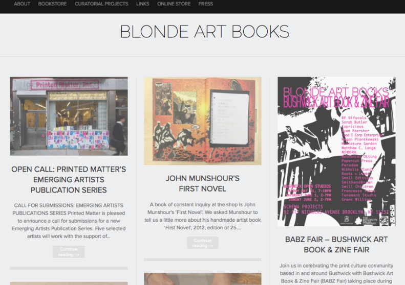 Blonde Art Books Blog